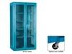 EXTRA HEAVY-DUTY STORAGE CABINET - SEE-THRU WITH CASTERS